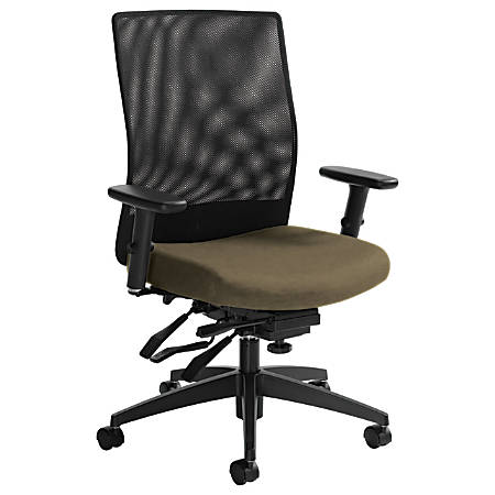 "Global® Weev Mid-Back Tilter Chair, 39""H x 25""W x 24""D, Beach Day/Black"