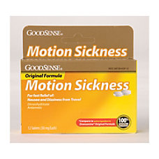 GoodSense Original Formula Motion Sickness Box