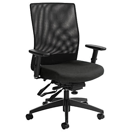 "Global® Weev Mid-Back Tilter Chair, 39""H x 25""W x 24""D, Granite Rock/Black"