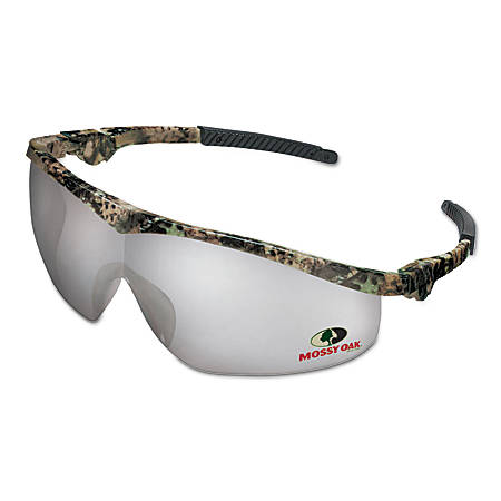Mossy Oak Safety Glasses, Clear Mirror Lens, Anti-Scratch, Camouflage Frame