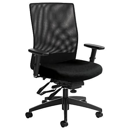 "Global® Weev Mid-Back Chair, 39""H x 25""W x 24""D, Black Coal/Black"