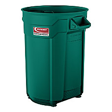 Suncast Commercial Round HDPE Utility Trash