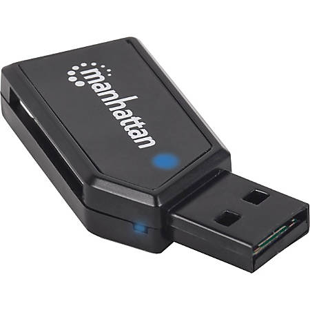 Manhattan Mini Hi-Speed USB 2.0 24-in-1 Multi-Card Reader/Writer