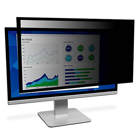 """3M™ Framed Privacy Filter Screen for Monitors, 19"""" Widescreen (16:10), PF190W1F"""