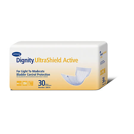 "Dignity® UltraShield Active Liners, 7 1/2"" x 15.4"", Box Of 30"