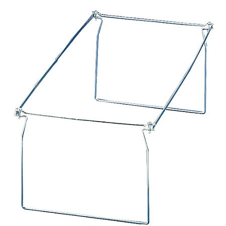 OIC® Hanging Folder Frames, Letter Size, Silver, Pack Of 6