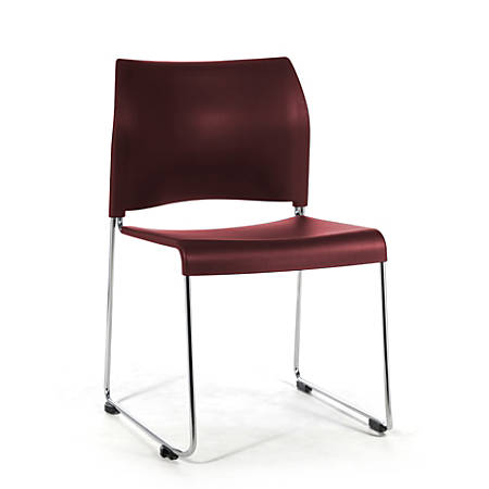 National Public Seating 8800 Cafetorium Chair, Wine/Chrome