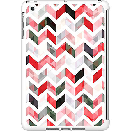 OTM iPad Mini White Glossy Case Ziggy Collection, Red - For Apple iPad mini Tablet - Ziggy - White, Red - Glossy