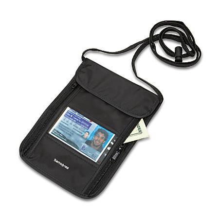 96ed1c22b39b Samsonite® RFID Neck Pouch, Black Item # 707394