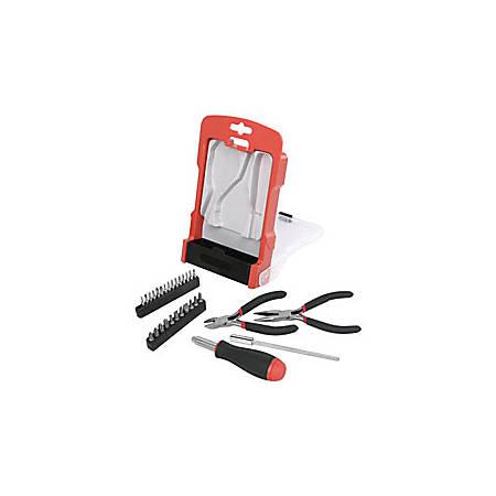 Realspace™ 31-Piece Precision Tool Set, Black/Red