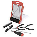 Realspace™ 31-Piece Precision Tool Set, Black/Red