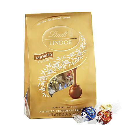 Lindor Chocolate Truffles, Assorted Chocolate Caramel, 15.2 Oz Bag