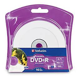 Verbatim DVDR 47GB 16X White Inkjet