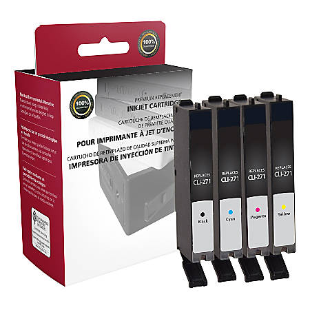 Clover Imaging Group ODCLI271XLBCMY (Canon CLI-271XL) High-Yield Remanufactured Black/Cyan/Magenta/Yellow Ink Cartridges