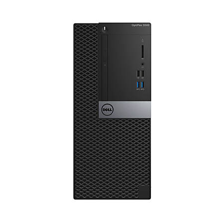 Dell™ Optiplex 3040 MT Desktop PC, Intel® Core™ i5, 4GB Memory, 500GB Hard Drive, Windows® 7 Professional
