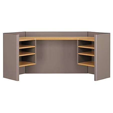 "Bush Business Furniture Office Advantage Corner Hutch 42""W, Light Oak/Sage, Standard Delivery"
