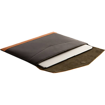 "Griffin Beamhaus Carrying Case (Envelope) for 13"" MacBook Air - Tan, Black - Scratch Resistant Interior - Leather, Suede Interior"