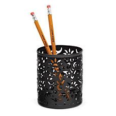 Realspace Brocade Pencil Cup Black