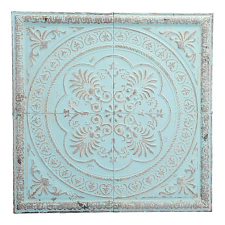 """Zuo Modern Ancient Plaque, 31 1/2"""" x 17 3/4"""", Distressed Blue"""