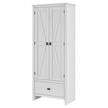 "Ameriwood™ Home Farmington 30"" Wide Storage Cabinet, 4 Shelves/1 Drawer, Ivory Pine"