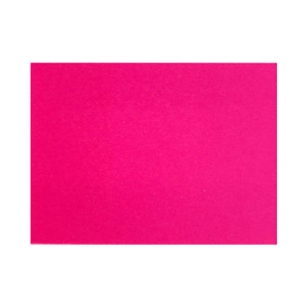 "LUX Flat Cards, A1, 3 1/2"" x 4 7/8"", Hottie Pink, Pack Of 50"