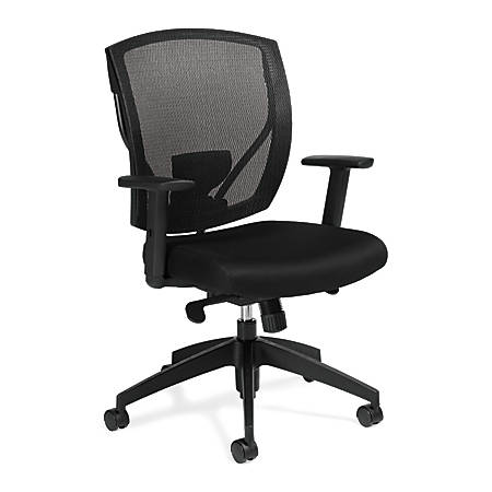 "Offices To Go™ Mid-Back Chair, Mesh Back, 39 1/2""H x 27""W x 26""D, Black"