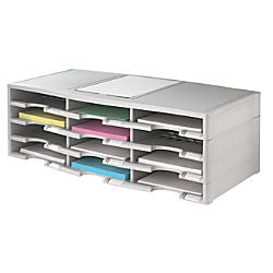 Office Depot Brand Stackable Plastic Literature Organizer