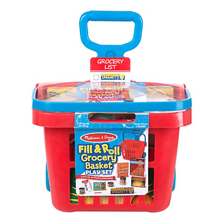 Melissa & Doug Educational Toy, Fill and Roll Grocery Basket