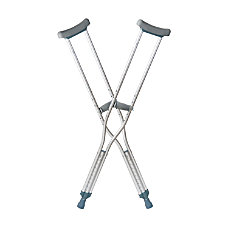 DMI Push Button Aluminum Crutches Youth