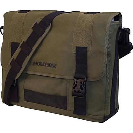 "Mobile Edge Eco-Friendly Canvas Messenger Bag For 17.3"" Laptops, Olive"