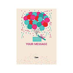 Flat Photo Greeting Card Balloons And