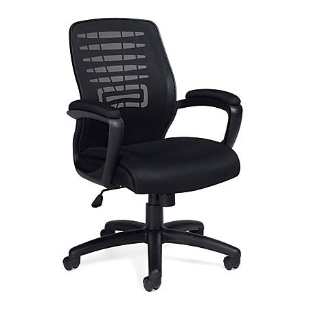 "Offices To Go™ Mid Back Chair, 40 1/2""H x 24""W x 27""D, Black"