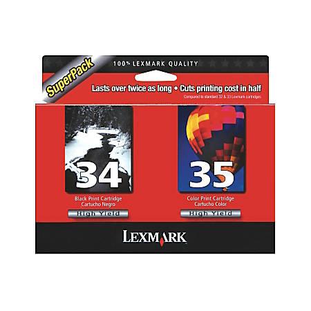 Lexmark™ 34/35 (18C0535) High-Yield Black/Color Ink Cartridges, Pack Of 2