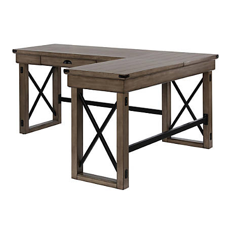 Ameriwood™ Home Wildwood L-Shaped Desk With Lift Top, Rustic Gray