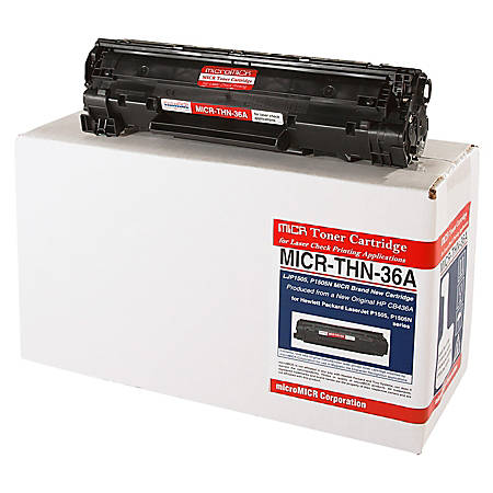 MicroMICR THN-36A (HP CB436A) Black MICR Toner Cartridge