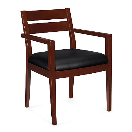 """Offices To Go™ Guest Chair, Wood, 32 1/2""""H x 23""""W x 23""""D, Cordovan"""