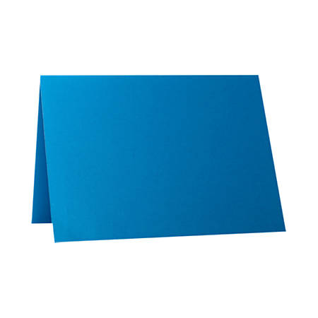 "LUX Folded Cards, A1, 3 1/2"" x 4 7/8"", Trendy Teal, Pack Of 50"