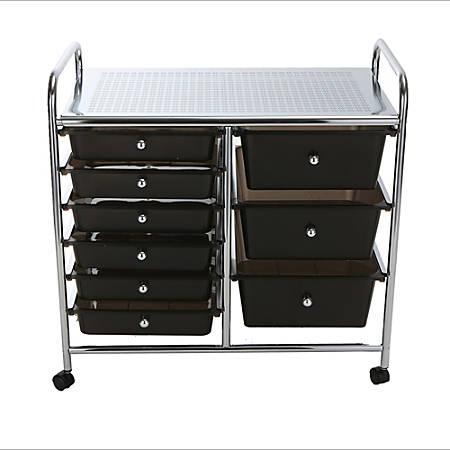 mind reader 9 drawer metal rolling - Rolling Utility Cart