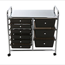 Mind Reader 9 Drawer Metal Rolling