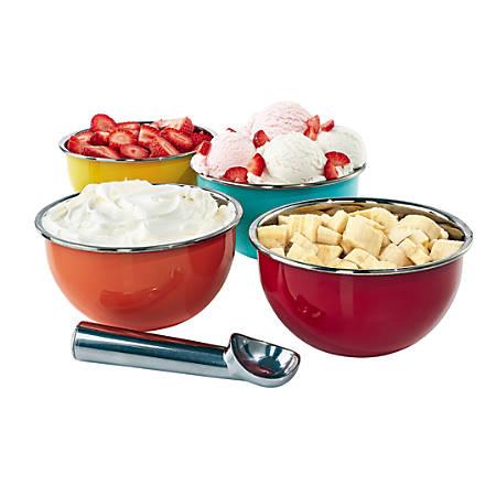 Ice Cream Bowl Set, Multicolor, 5 Piece Set