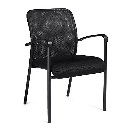 """Offices To Go™ Guest Chair, Mesh Back, 34""""H x 23 1/2""""W x 23 1/2""""D, Black"""