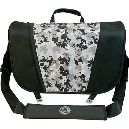 "Mobile Edge 16"" PC/17"" Mac Sumo Messenger Bag - Black/ Silver"