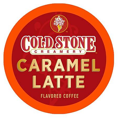 Cold Stone Creamery Caramel Latte Coffee Single-Serve K-Cups®, 0.35 Oz, Carton Of 24