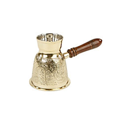 Mind Reader Turkish Style Brass Coffee