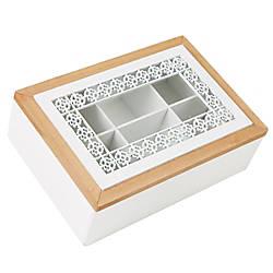 Mind Reader Tea Box Glass Window