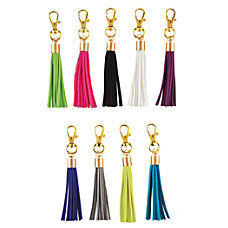 Divoga Tassel Key Chain Leatherette Assorted