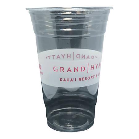Edris Plastics Hyatt Flush PET Cups, 20 Oz, 50% Recycled, Clear, Carton Of 600 Cups