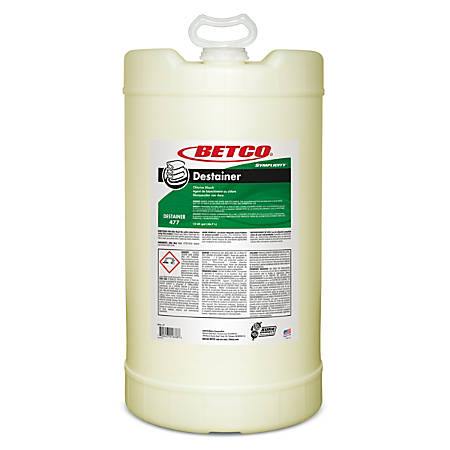Betco® Symplicity Destainer, 1,920 Oz Drum, Amber