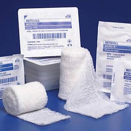 "Covidien KERLIX™ Gauze Bandage Rolls, Non-Sterile, Medium, 3 2/5"" x 3.6 Yd., 6-Ply, Plastic Tray, Pack Of 96"