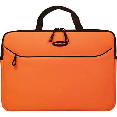 "Mobile Edge 16"" SlipSuit (Orange) - Sleeve - Carrying Strap - 15.6"" to 16"" Screen Support - Neoprene - Orange"